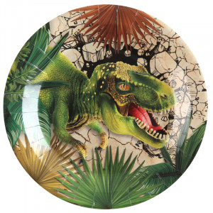 Assiettes - Dino Jurassic - lot de 10