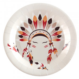 Assiettes - Indien et Cowboy - lot de 10