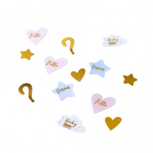 Confettis de table - Gender reveal - lot de 100