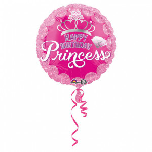 "Ballon métallique ""Happy Birthday Princess"""