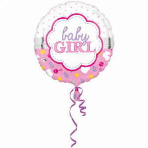"Ballon métallique ""Baby Boy ou Girl"" - 43 cm"