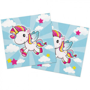 Serviettes - Licorne Star - lot de 20