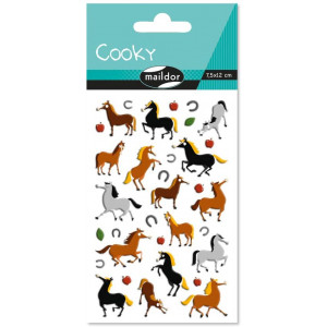 Stickers relief - Chevaux - Maildor Cooky