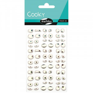 Stickers relief - Yeux rigolos - Maildor Cooky