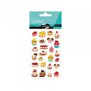 Stickers relief - Gâteaux - Maildor Cooky