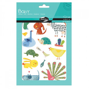 Gommettes - Animaux - Maildor Baby - 6 planches