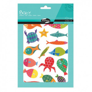 Gommettes - Poissons - Maildor Baby - 6 planches