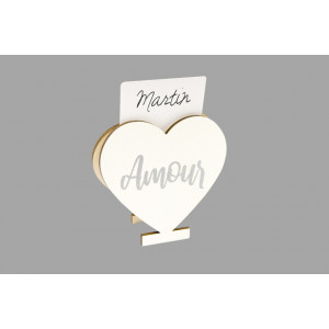 """Marque place """"Amour"""" - Coeur"""