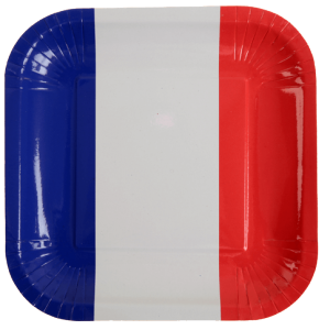 Assiettes - lot de 10 - Tricolore