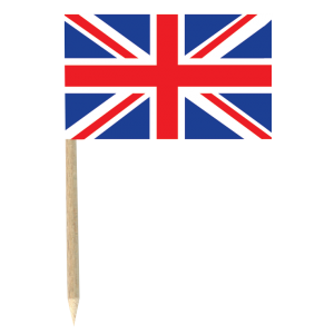 Mini pics drapeau Angleterre (lot de 50)