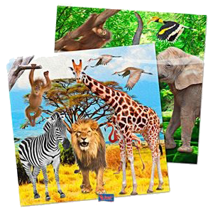 "Serviettes ""Jungle"" (lot de 20)"