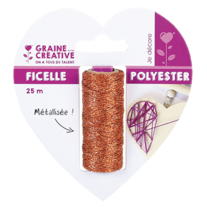 Ficelle polyester - Cuivre