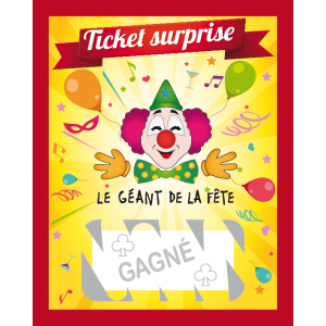 "Tickets à gratter ""GAGNÉ"" (lot de 20)"