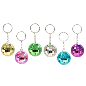 Porte clés Boule disco (lot de 12)