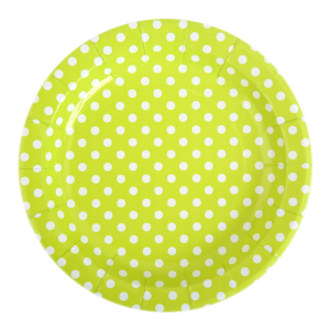 "Assiettes carton ""pois"" Ø 23 cm (lot de 10)"