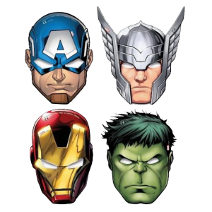 "Masques ""Avengers"" (lot de 6)"