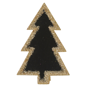 Pinces ardoise sapin pailleté (lot de 4)