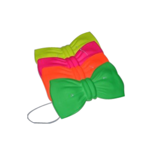 Noeuds papillon fluo - lot de 12