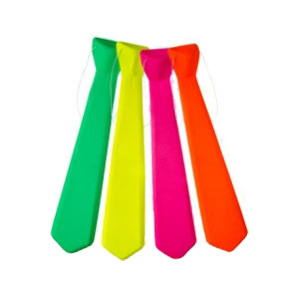 Cravates fluo - lot de 12