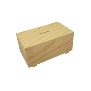Tirelire rectangulaire en bois