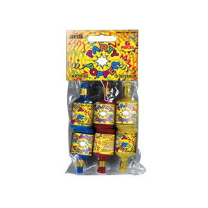 Bouteilles party poppers (lot de 6)