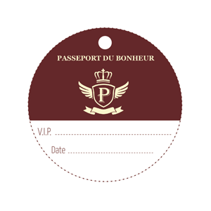 "Nominettes ""passeport"" (lot de 25)"