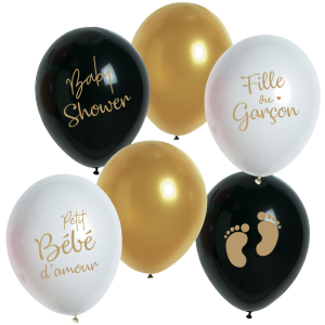 "Ballons de baudruche ""Baby Shower"" Surprise - 25 cm..."