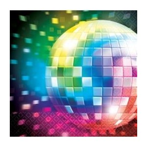 "Serviettes ""Disco Fever"" (lot de 16)"