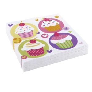 "Serviettes ""cupcake sugar"" (lot de 20)"