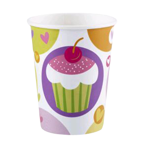 "Gobelets ""cupcake sugar"" (lot de 8)"