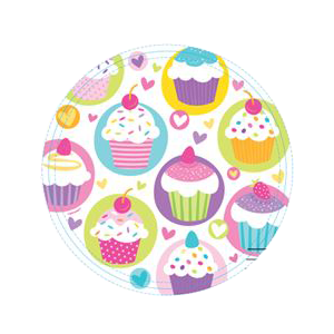 "Assiettes ""cupcake sugar"" (lot de 8)"