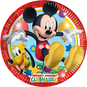 "Assiettes ""Mickey"" (lot de 8)"