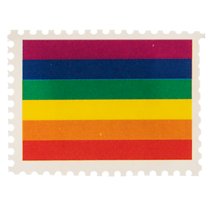Timbres - Arc en ciel - lot de 50