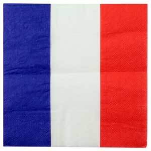 Serviettes - lot de 20 - Tricolore