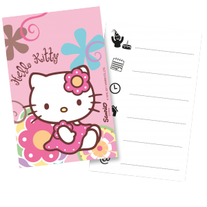 "Invitations + enveloppes ""Hello Kitty Bambou"" (lot..."