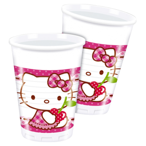 "Gobelets ""Hello Kitty Cherry"" (lot de 8)"