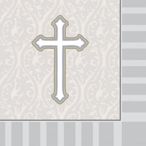 "Serviette ""Communion grey"" 33 x 33 cm ( lot de 16 )"