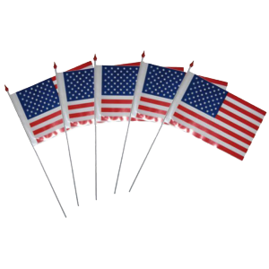 Drapeau papier rigide USA (lot de 10)