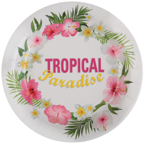 Assiettes Tropical (lot de 10)