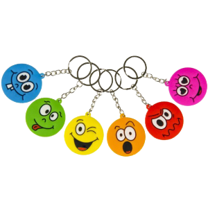 "Porte clés ""Emotions Face"" (lot de 12)"