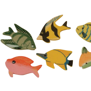 Poisson tropical bois ( lot de 12 )