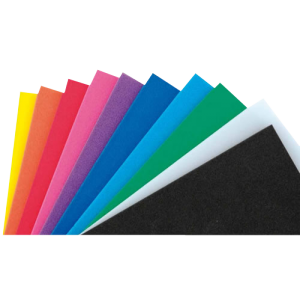 Mousse multicolore 20 x 30 cm ( lot de 10 plaques )