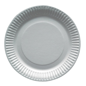 Assiettes carton Ø 23 cm blanc - lot de 100