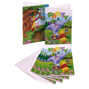 "Invitations + enveloppes ""Winnie Licious"" (lot de 6)"