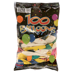 Ballons standards (lot de 100) - multicolore