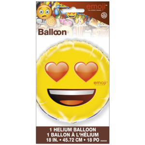 Ballon métallique - Emoji love - 45 cm