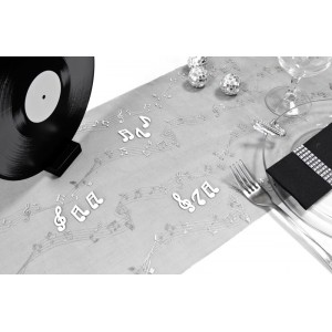 "Chemin de table ""Notes de musique"""