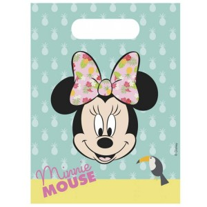 Sacs en plastique - Minnie Tropical - lot de 6