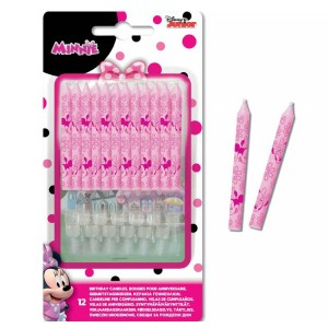 Bougies - Minnie Tropical - lot de 12