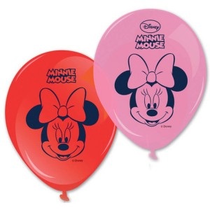 Ballons de baudruche - Minnie Tropical - 25 cm - lot...